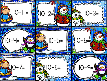 Snowball Subtraction Smash: Difference to 10
