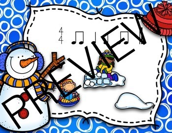 Snowball Surprise Music Rhythm Game {BUNDLE}