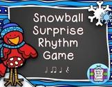 Snowball Surprise Music Rhythm Game {Half Notes}