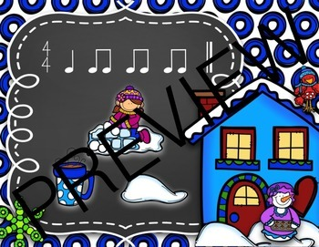 #wildwinterwednesday Snowball Surprise Music Rhythm Game {Ta and Ti-Ti}