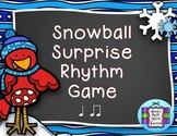 Snowball Surprise Music Rhythm Game {Ta and Ti-Ti}