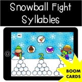 Snowball Fight Syllables | Winter | January | Boom Cards