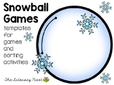 Snowball Theme Game Templates WINTER FREEBIE