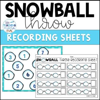 Snowball Throw {Adding 3 Addends}