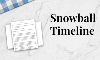 Lesson Plan Snowball Timeline