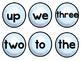 Snowball Toss - Sight Word Match Game