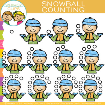 Snowball Winter Counting Clip Art