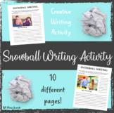 Snowball Writing Activity