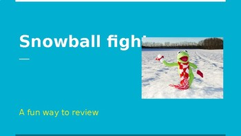 Snowball fight review game- works for any subject!