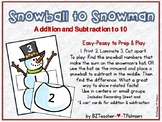 Snowball to Snowman - Addition and Subtraction to 10 for C