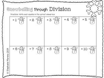 Snowballing through Division Facts Practice