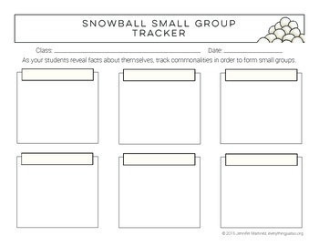 Snowballs: A Beginning of the Year Ice Breaker