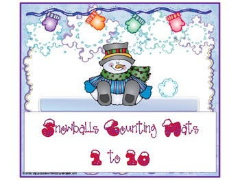 Snowballs Counting Mats 1 to 10