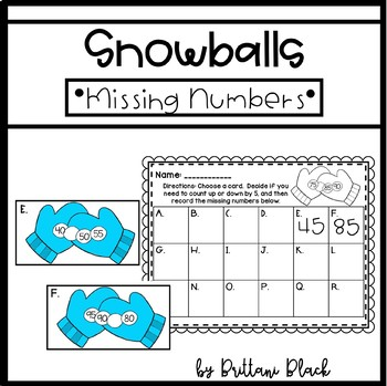 Snowballs~ Missing Numbers