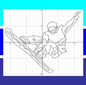 Snowboard Cross - An Olympic Coordinate Graphing Activity