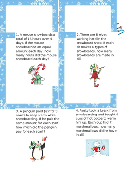 Snowboarding our way through Multiplication and Division Word Problems
