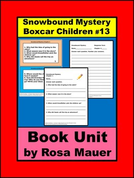 Snowbound Mystery The Boxcar Children Book Unit