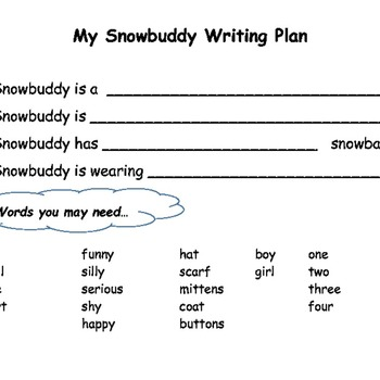 Snowbuddy Descriptive Writing Pack
