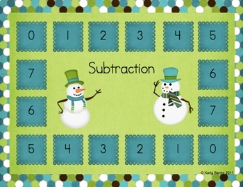 Snow Day Math Workstations