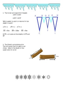 Snowday Ratios, Proportions, Scale Factor, Similar and Congruent Figures