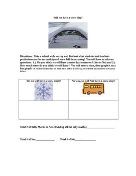Snowday Survey & Thanksgiving Graph BUNDLE