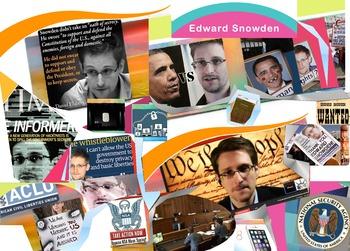 Edward Snowden FREE POSTER Whistleblower Governmental Surveillance