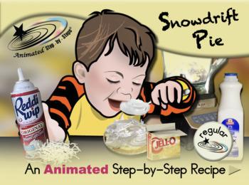 Snowdrift Pie - Animated Step-by-Step Recipe - Regular