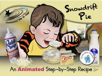 Snowdrift Pie - Animated Step-by-Step Recipe SymbolStix