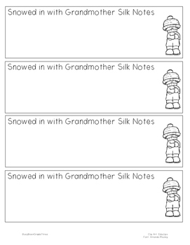 Snowed in with Grandmother Silk Notetaking Bookmarks