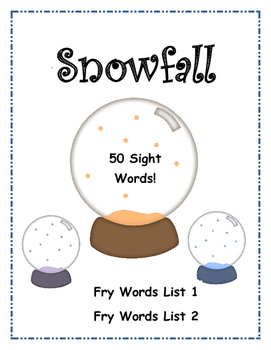 Snowfall - Sight Word Winter Game
