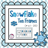 Winter Snowflake 10 Frame Math Center Activity ~ Counting
