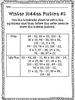 Snowflake 120 Number Chart Freebie