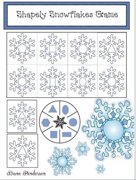Snowflake 2D Shapes Matching Games