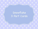 Snowflake 3 Part Cards