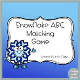 Snowflake ABC Matching Game- A Letter Recognition Game