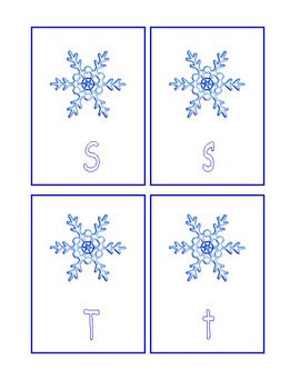 Snowflake ABCs - Uppercase/Lowercase Match