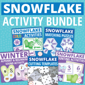 Snowflakes   Snowflake Activities Bundle   Winter Activities Bundle