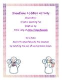 Snowflake Addition File Folder Game