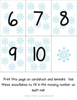 Addition Mats - Decomposing Numbers - Snow