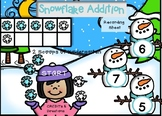 Snowflake Addition within 10 using pictures and ten frame (winter theme)