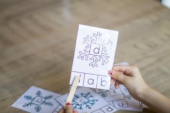 Snowflake Alphabet Clipcards