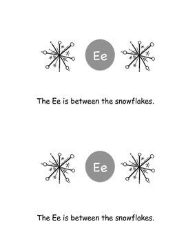 Snowflake Alphabet Emergent Reader