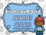 Snowflake Alphabet Literacy Center - Winter Center