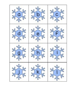 Snowflake Alphabet Match