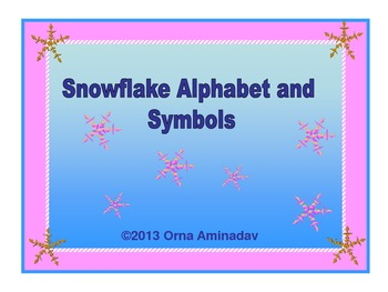 Snowflake Alphabet and Symbols Set