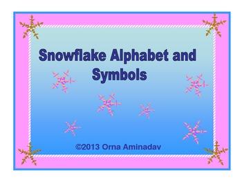Snowflake Alphabet and Symbols Set