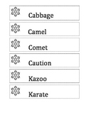 Snowflake Articulation Cards