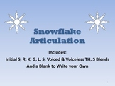 Snowflake Articulation Packet #feb2018slpmusthave
