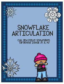 Snowflake Articulation Targeting Initial /p, b, m/
