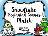 Snowflake Beginning Sounds Match